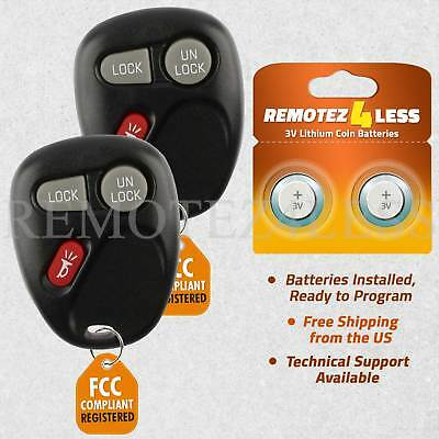 $16.97 • Buy Replacement For Chevy GMC Keyless Entry Remote Car Control Key Fob 1bt Pair