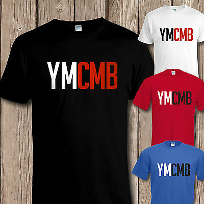 YMCMB Young Money T SHIRT, Flock Texture Design, All Colours / Sizes To 5XL • 9.95£