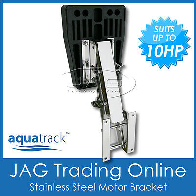 AU144.95 • Buy STAINLESS STEEL MARINE/BOAT OUTBOARD AUXILIARY MOTOR BRACKET- UP TO 10HP / 32kg