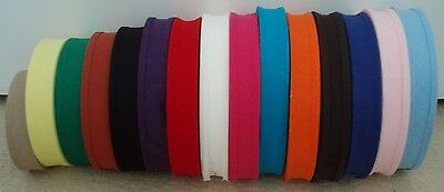 BIAS BINDING - 25mm 1  - 2 OR 5 METRES - IDEAL CRAFT, BUNTING ETC - MANY COLOURS • 1.99£