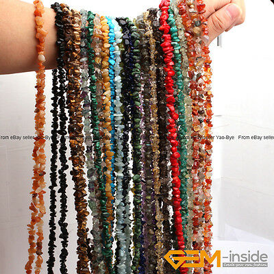 $3.23 • Buy Natural 7-8mm Freeform Gemstone Chips Beads For Jewelry Making Strand 34 &15