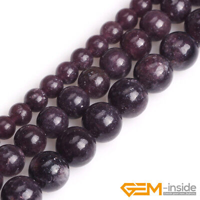 $3.60 • Buy Natural Stone Purple Lepidolite Round Beads For Jewelry Making 15  6mm 8mm 10mm