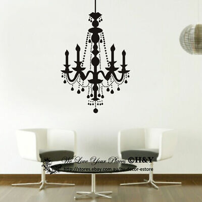£17.01 • Buy Candle Chandelier Removable Wall Stickers Vinyl Wall Decals Art Mural Home Decor