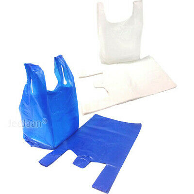Plastic Carrier Bags Strong & Medium Vest  Supermarket  Takeaway [all Sizes] • 3.99£