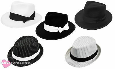 £6.99 • Buy Adult Gangster Hat 1920's Fancy Dress Trilby Al Capone Gatsby Costume Accessory