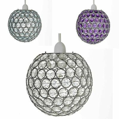 £21.95 • Buy Crystal Ball Ceiling Light Shade Pendant Chandelier Acrylic Effect 120 Jewels