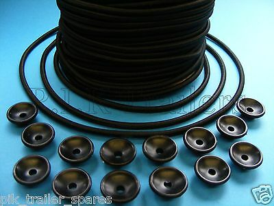 AU14.88 • Buy 14 X Trailer Button Cleats With 6 Metres Of 5mm Bungee Elastic Cord Erde Daxara