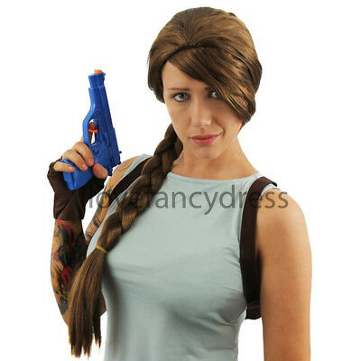 £7.99 • Buy Brown Plait Wig Video Game Movie Film Character Fancy Dress Costume Accessory