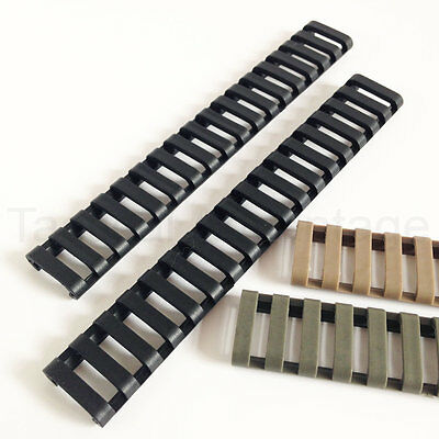 $6.88 • Buy 2 X AEG 20mm Rubber Rail Covers Handguard Ladder Airsoft RIS Magpul Style Cover