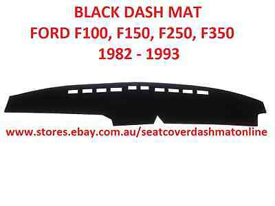 AU45 • Buy  Dash Mat,black Dashmat Fit Ford, F100,f150,f250,f350 1982 - 1993, Black Colour