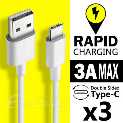 AU5.95 • Buy 3x Type-C USB-C Data Charger Cable For Samsung S21 S20 Ultra S10 Plus S9 S8 Note