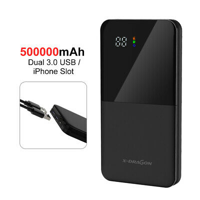 AU29.99 • Buy 500000mAh LCD Portable External Battery Charger USB Power Bank Backup For Phone