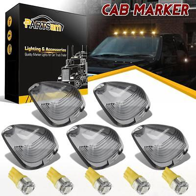 $18.07 • Buy 5x Clearance Light Cab Marker Smoke Covers+Yellow LED Bulbs For Ford F-250 E-350