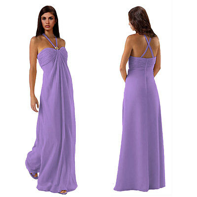 AU39.95 • Buy Gorgeous Long Flowing Formal Bridesmaid Dress Evening Party Night Gown Lilac