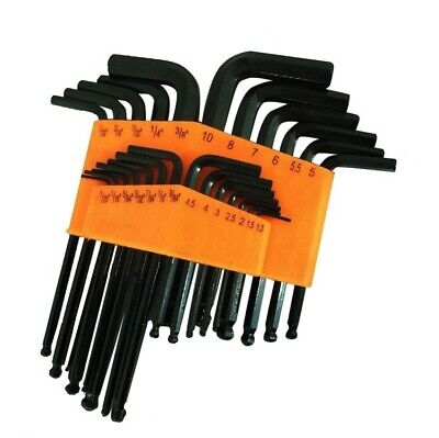 $ CDN16.33 • Buy 25 Piece Ball End Long Arm Hex Key Allen L Wrench Driver SAE & Metric Set New