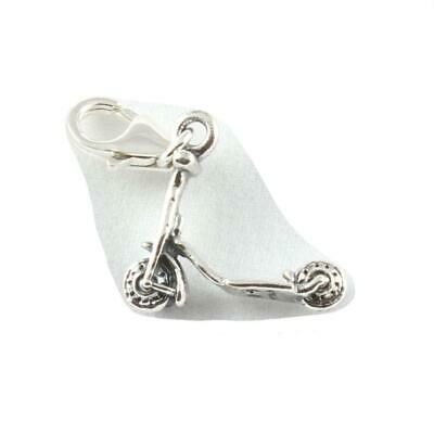 £11 • Buy Scooter 3D Sterling Silver Clip On Charm - Soldered On Clasp -  Childrens Toy