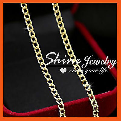 AU8.85 • Buy 9ct Yellow Gold Gf Curb Ring Links Chain For Pendant Ladies Girls Solid Necklace