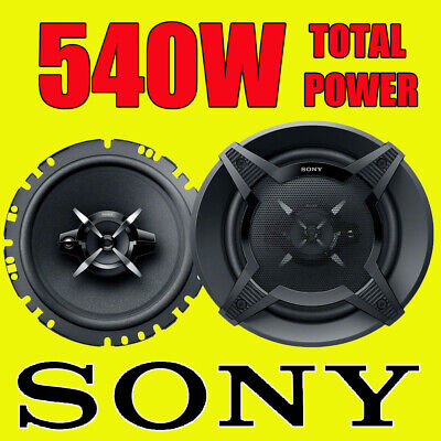 SONY 540 WATTS 6.5 Inch 17cm 3 Way Car Van Truck Door Dash Shelf Speakers Pair • 39.90£