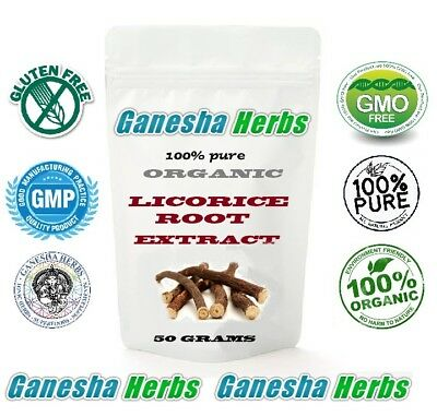 100% Pure Organic Chinese LICORICE ROOT High Potency 20:1 Extract 50 Grams  • 10.13£