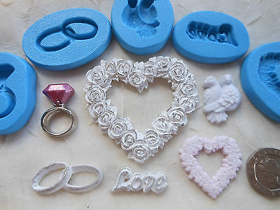 £3.75 • Buy 1x Mini Craft Mould: Wedding / Engagement / Love Theme (Cupcake Resin Clay PMC)