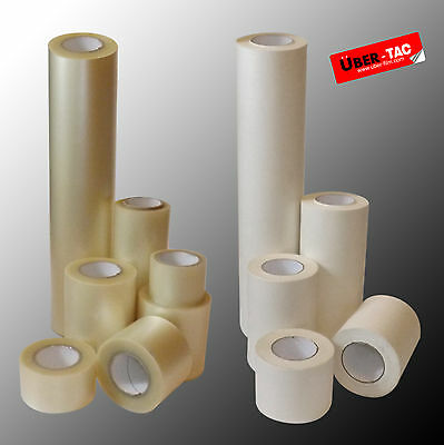 Uber-Tac Clear / Paper Roll Of Application Transfer Tape Many Sizes App Tape* • 18.11£