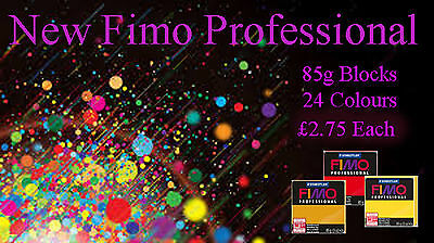 FIMO Professional 85g Polymer Clay 24 Colours For Modelling Jewellery Craft Art • 2.75£