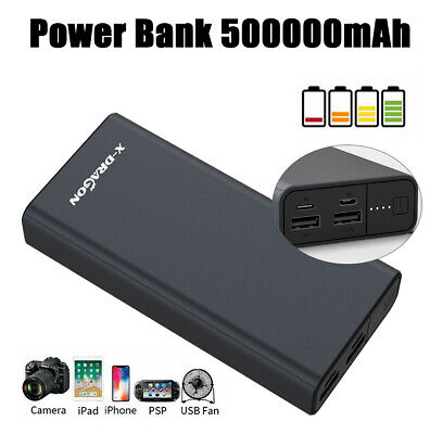 AU35.99 • Buy External 500000mAh Power Bank Portable 4 USB  Battery Charger Fr Mobile Phone