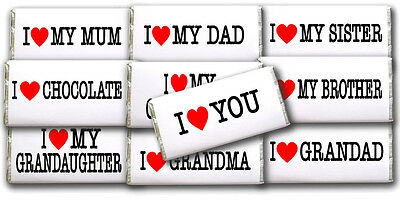 £5.50 • Buy *personalised I Love You Chocolate Bar Gift Great Idea For Birthday Present Etc*