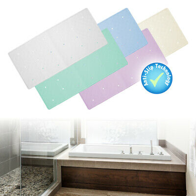 £9.97 • Buy Rubber Extra Long Large In Bath Tub Or Shower Mat White Non Slip Anti Mould Kids