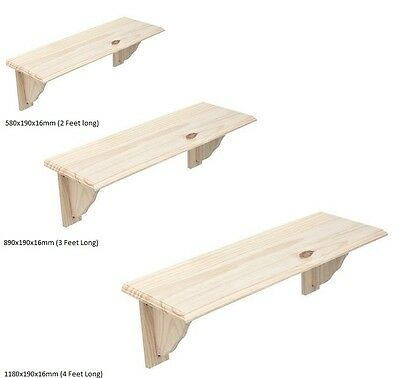 £9.25 • Buy Natural Wood Wooden Shelf Storage Unit Stand Kit & Fittings Wall Mounted Shelves
