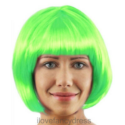 £4.99 • Buy Ladies Factory Worker Green Wig Book Character Fancy Dress Costume Accessory