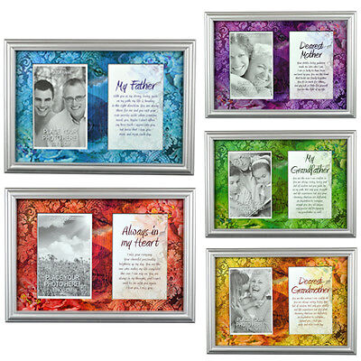 Personal Photo Frame And With Stand Memory Picture Print Message Wall Hanging • 3.99£