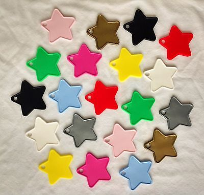 £3.99 • Buy 10 Star Shaped Plastic Balloon Weights With A 25m Reel Of  Balloon Ribbon.