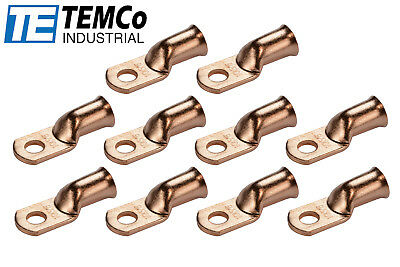 AU13.21 • Buy 10 Lot 1/0 5/16  Hole Ring Terminal Lug Bare Copper Uninsulated AWG Gauge