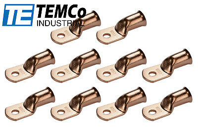 AU26.55 • Buy 10 Lot 4/0 5/16  Hole Ring Terminal Lug Bare Copper Uninsulated AWG Gauge