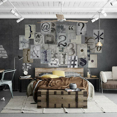 Creative Collage Wallpaper Mural Typography Alphabet Letters Art Decor Home New • 14.90£