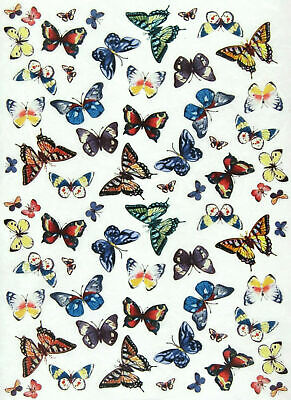 £1.89 • Buy Rice Paper For Decoupage, Scrapbook Sheet, Craft Colorful Butterflies