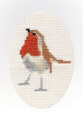 £4.49 • Buy Robin Red Breast - Cross Stitch A6 Card Kit 4 X6  - Birthday/Christmas, 14 Count