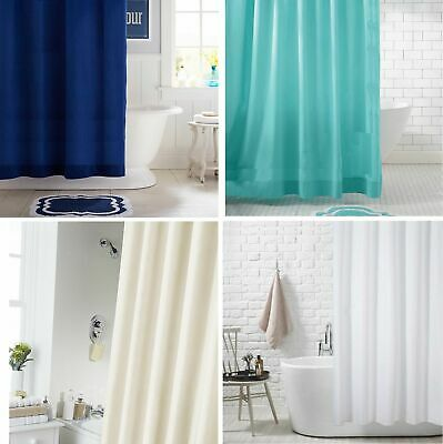 Extra Long Extra Wide Long Drop Waterproof Fabric Shower Curtain With 12 Hooks  • 9.95£