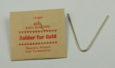 £6.99 • Buy GOLD SOLDER STRIPS 1.5g Repairs Jewellery Rings Ect Jewellers Craft Arts Tools