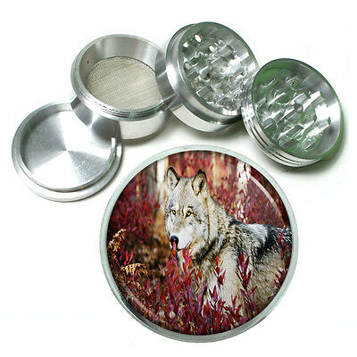 Wolf Aluminum Grinder D4 56mm 4 Piece Wilderness Animal Dog Hunter Predator • 12.21£