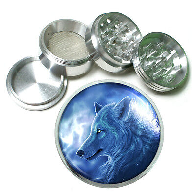 Wolf Aluminum Grinder D9 56mm 4 Piece Wilderness Animal Dog Hunter Predator • 12.21£