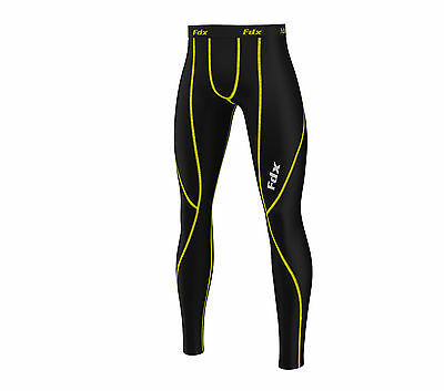 FDX Mens Compression Base Layer Long Pants Legging Running Trouser Under Tight • 11.25£