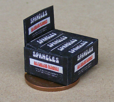 1:12 Scale Display Box Of Old English Spangles Packet Tumdee Dolls House Sweets • 3.99£