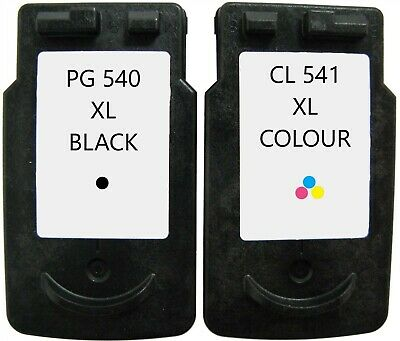 Refilled Ink For Canon PG-540XL Black + CL-541XL Colour Cartridges MG3250 MG4250 • 23.13£