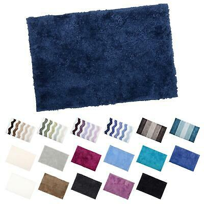 Soft Tufted Microfibre Bathroom Shower Bath Mat Rug Non-Slip Back - 12 Colours • 11£