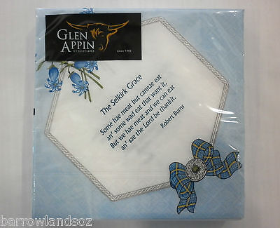 £7.06 • Buy Scottish Napkins,  BURNS SUPPER  - Bluebells And Grace With Burns Poems