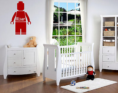 Lego Man Custom Name Wall Sticker Decal Bedroom Wall Art Sticker Vinyl/Decal! • 3.99£