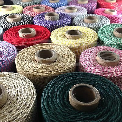 £4.59 • Buy BEAUTIFUL FESTIVE CHRISTMAS BAKERS TWINE 2mm 2 PLY - STRING CORD CRAFT EVERLASTO