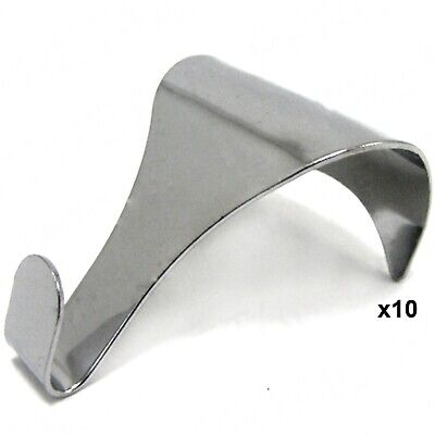 10 X CHROME QUALITY PICTURE RAIL MOULDING HANGING HOOKS - Large Frame/Wall/Metal • 3.83£